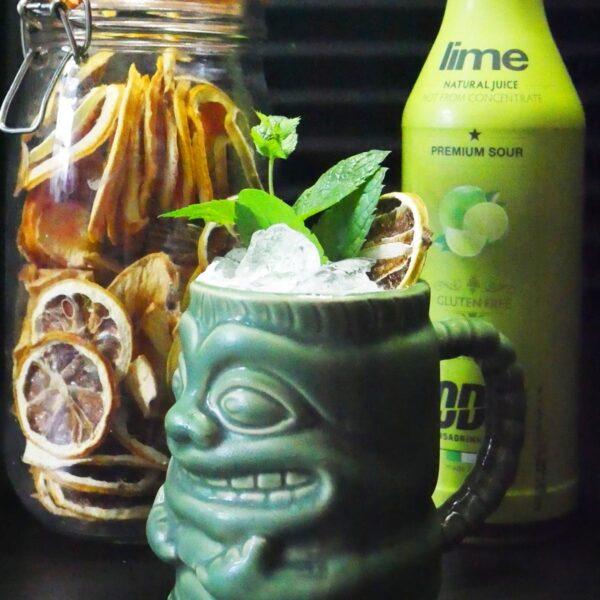 Mai Tai Cocktail in Tiki Mug
