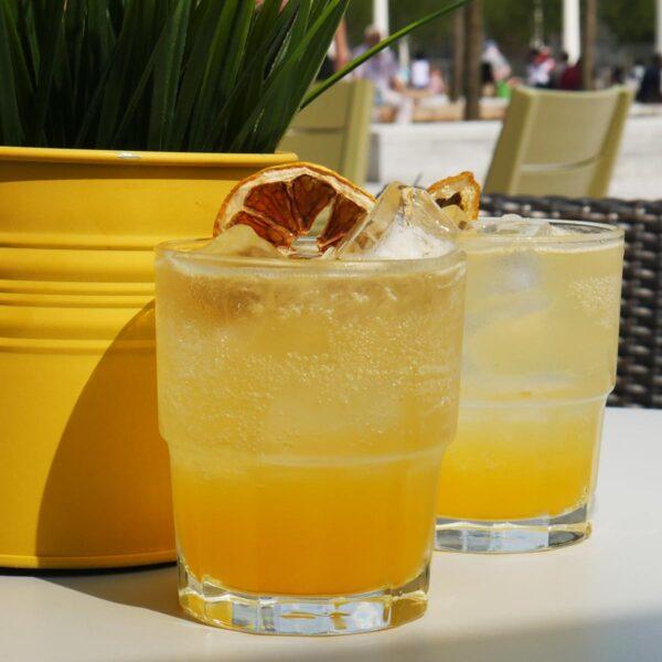 vanilla passion fruit lemonade